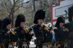 Bagpipes are a traditional part of Irish history. At the St. Patrick's Day parade in Huntington on Sunday, March 10, 2013, more than three different bagpipe groups marched down New York Ave. Photo by Alexa Gorman