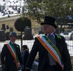 Members of the Ancient Order of Hibernians marched in the St. Patrick's Day parade in Huntington on Sunday, March 10, 2013. The parade route stretched over two miles down New York Ave. and onto Main Street. Photo by Alexa Gorman