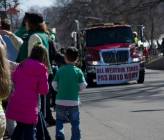 Hundreds lined the streets for the St. Patrick's Day Parade on Sunday, March 10, 2013. The route stretched over two miles down New York Ave. and Main Street in Huntington. Photo by Alexa Gorman
