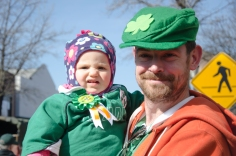 Lyla Smith of East Meadow, N.Y. saw her second St. Patrick's Day parade with her father, Dave, on Sunday, March 10, 2013. Photo by Alexa Gorman