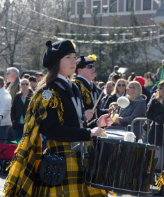 Saint Anthony's High School band were among many performers in the St. Patrick's Day parade on Sunday, March 10, 2013. The route stretched over two miles down New York Ave. and Main Street in Huntington. Photo by Alexa Gorman
